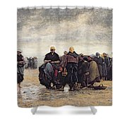 On The Shore Shower Curtain by Jacques Eugene Feyen