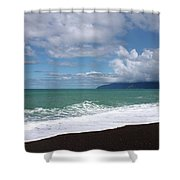 On The Shore Of Lake Ferry Shower Curtain