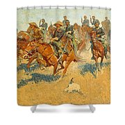 On The Southern Plains Frederic Remington Shower Curtain