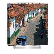 On The Streets Of Barichara - 3 Shower Curtain