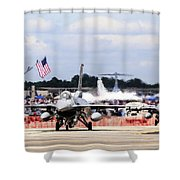 On The Taxiway Shower Curtain