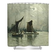 On The Thames Shower Curtain