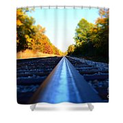 On The Track Shower Curtain
