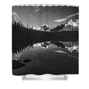 On The Trail Bw Shower Curtain
