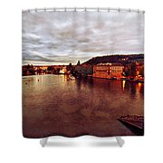 On The Vltava River Shower Curtain