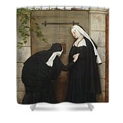 On The Watch Shower Curtain