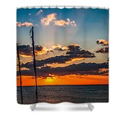 On The Water Front Shower Curtain