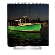 On The Waterfront V Shower Curtain