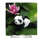 On The Waterlily Shower Curtain
