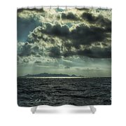 On The Way Back Home Shower Curtain