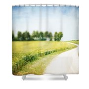 On The Way Through The Summer Shower Curtain