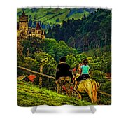 On The Way To Bran Castle Shower Curtain