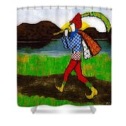 On The Way To Hamelin Town Shower Curtain