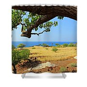 On The Way To Lapakahi Shower Curtain