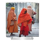 On The Way To Morning Prayers - India Shower Curtain