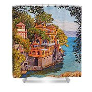 On The Way To Portofino Shower Curtain