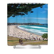 On The Way To The Beach. Shower Curtain