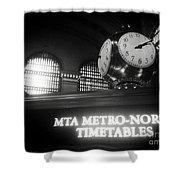 On Time At Grand Central Station Shower Curtain