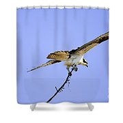On To The Nest Shower Curtain