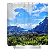 On Top Of Moorea Shower Curtain