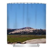 On Top Of The Mountain Valley Shower Curtain