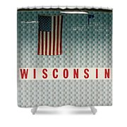 On Wisconsin  Shower Curtain