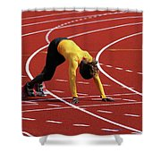 Track And Field 1 Shower Curtain