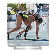 On Your Mark  Shower Curtain