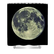 Once In A Blue Moon Shower Curtain by Candice Trimble