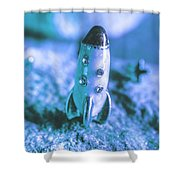 Once On A Blue Moon Shower Curtain