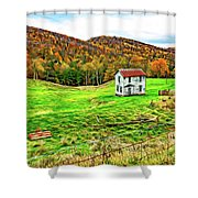 Once Upon A Mountainside 2 - Paint Shower Curtain