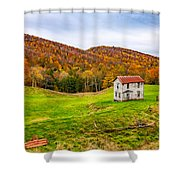 Once Upon A Mountainside Shower Curtain