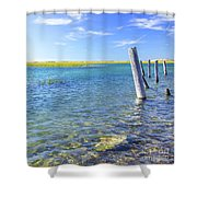 Once Upon A Pier Shower Curtain
