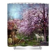 Once Upon A Springtime Shower Curtain