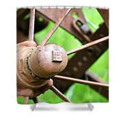 Once Upon A Wheel Shower Curtain