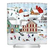 Once Upon A Winter Shower Curtain