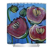 Once Upon A Yoga Mat Poppies 3 Shower Curtain