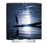 Once Upon In A Moonlit Night Shower Curtain