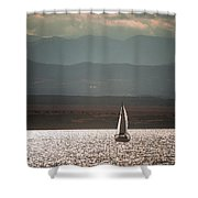 One Autumn Evening Shower Curtain