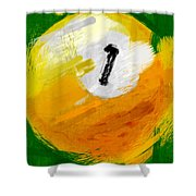 One Ball Abstract Shower Curtain