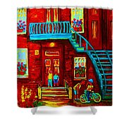 One Bike For Two Brothers Shower Curtain