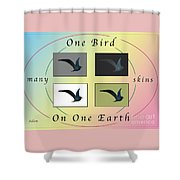One Bird Poster And Greeting Card V1 Shower Curtain
