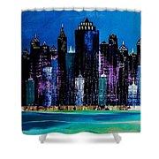 One City Night 9 Shower Curtain
