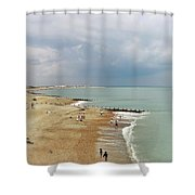 One Cool Beach Day  Shower Curtain