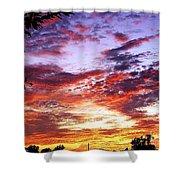 One Dawn Autumn Sky Shower Curtain