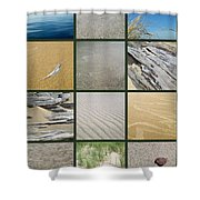 One Day At The Beach Ll Shower Curtain