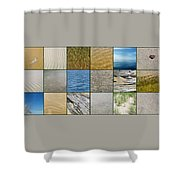 One Day At The Beach  Shower Curtain by Michelle Calkins
