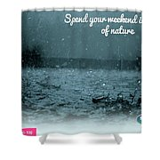 One Day Picnic Spot Near Khadakwasla- Masti Ka Cool Station Splendour Country Shower Curtain