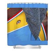 One Eyed Bandit Luzzu Shower Curtain