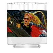 One Fast Girl Shower Curtain